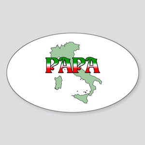 Papa Oval Sticker